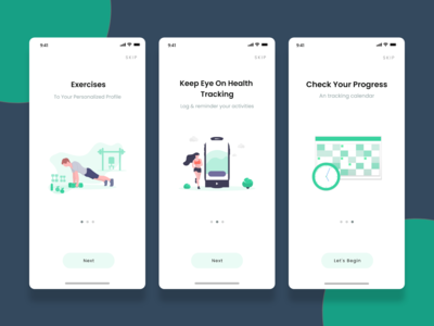 Onboarding Screens of HEALTHO gym and fitness App