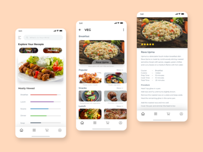 Home Recipe App Design