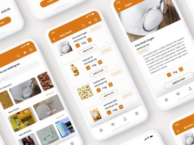 Grocery Shopping App UI