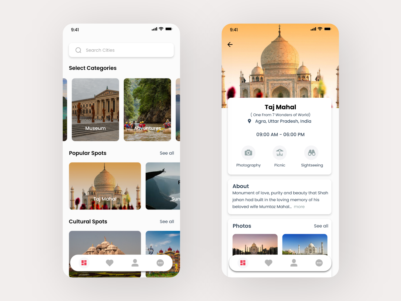 Travel Guide UI travellers travelling travel app design ux  ui adobe xd android ios
