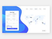 Landing Page for Flight ticket booking