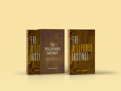 The Willpower Instinct cover design poligraphy cover photoshop books book typography style design