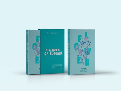 Big Book of Blooms flower cover design poligraphy cover photoshop books book font typography style design