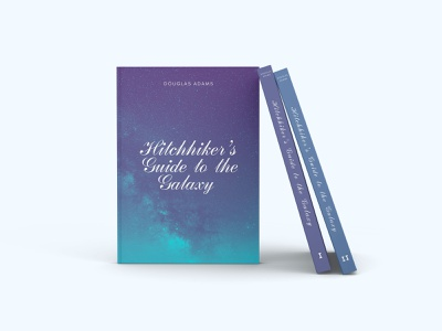 Guide to the Galaxy cover design poligraphy cover photoshop books book font typography style design