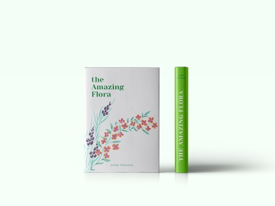 The Amazing Flora cover design poligraphy cover photoshop books book font typography style design