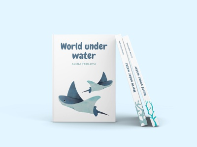 World under water cover design cover poligraphy photoshop books book font typography style design
