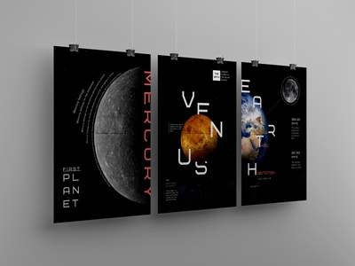 Space posters photoshop poligraphy posters space font typography style design