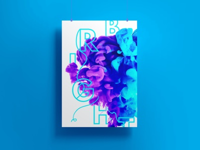 Bright poster photoshop font typography style design