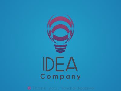 Idea Company Logo logo thanks vectordesign izzó bulb design logodesign idea