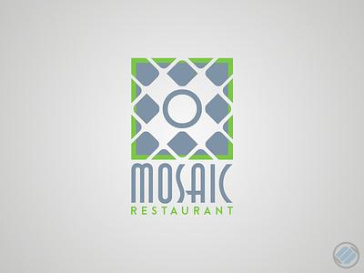 Mosaic Restaurant Logo vectorlogo design logodesign logo mosaic restaurant
