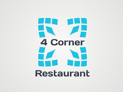 4 Corner Restaurant restaurant design logodesign logo four 4