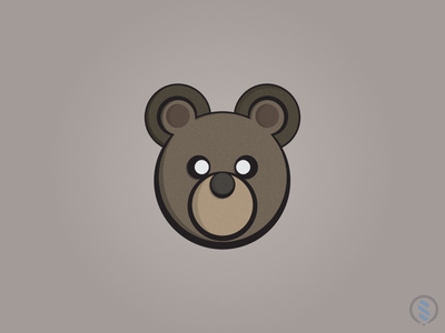 Bear Logo design logo medve bear