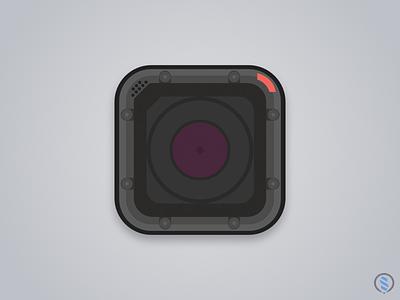 GoPro Flat Icon design icon flat gopro