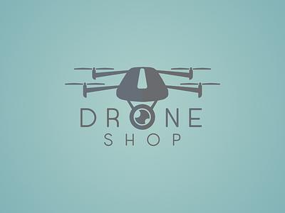 Drone Shop Logo logodesign logo design vectoedesign shop bolt drone