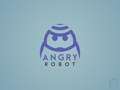 Angry Robot Logo mérges design logodesign logo robot angry