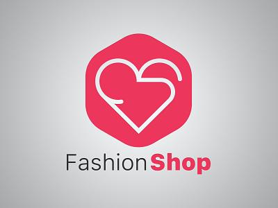 Fashion Shop Logo heart design shop fashion