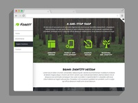 Forest - Responsive Muse Template Vertical Navigation