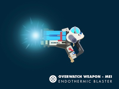 Mei Endothermic Blaster - Overwatch mei gun weapon overwatch vector digital illustration