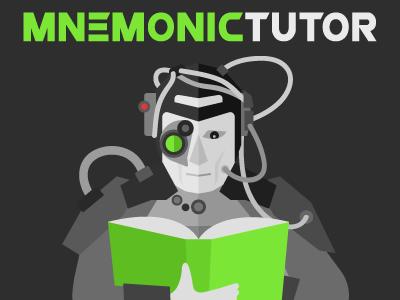 Social Media Branding - MnemonicTutor graphic design social green vector flat magic magic the gathering mtg tutor borg