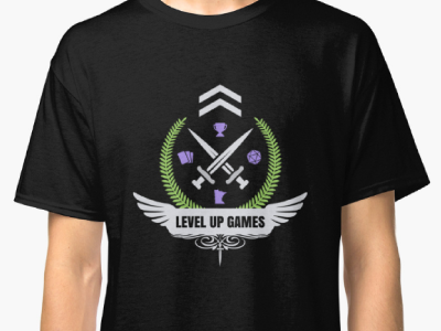 Shirt Design Contest Win - Level Up logo icon level up mtg lgs win contest flat vector design shirt