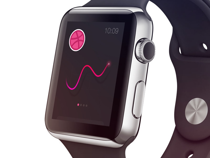 Applewatch apple watch graph color dribbble time plearns