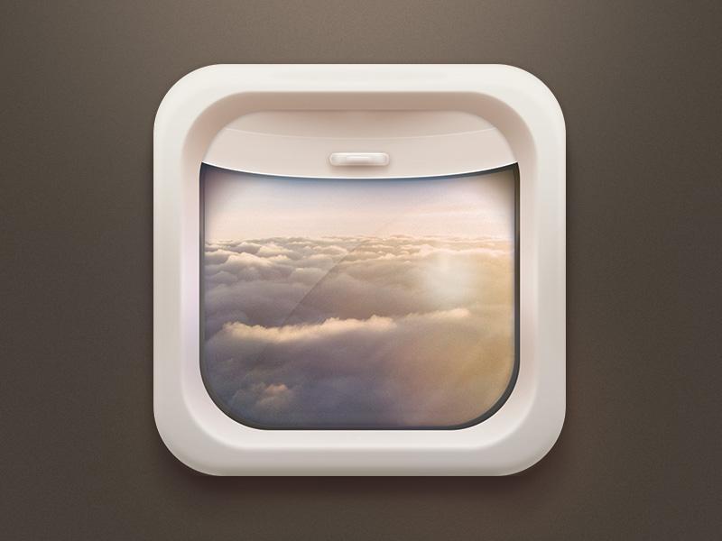 Wind Compute airplan pilot mobile ui icon app