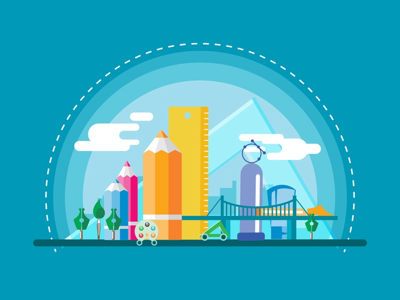 Welcome to Creativty City vectorillustration digitalillustration illustration adobeillustrator