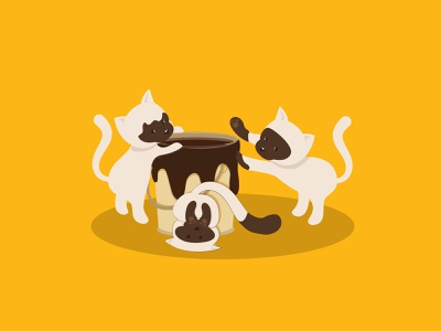 We are Siamese Cats kawaii vectorart vectorillustration digitalillustration illustration adobeillustrator