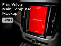 Free Volvo S90 Main Computer Mockup PSD File