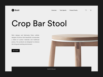 Daily UI challenge #003 — Landing Page minimal furniture daily ui ui landing page 003