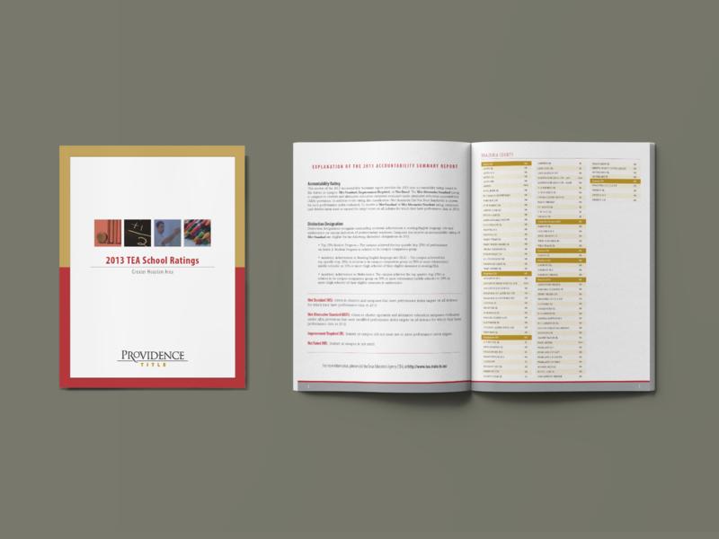 School Rating Booklet - PRT booklet design booklet brochure brochure design layout photoshop sales collateral marketing collateral branding indesign composition graphic design design