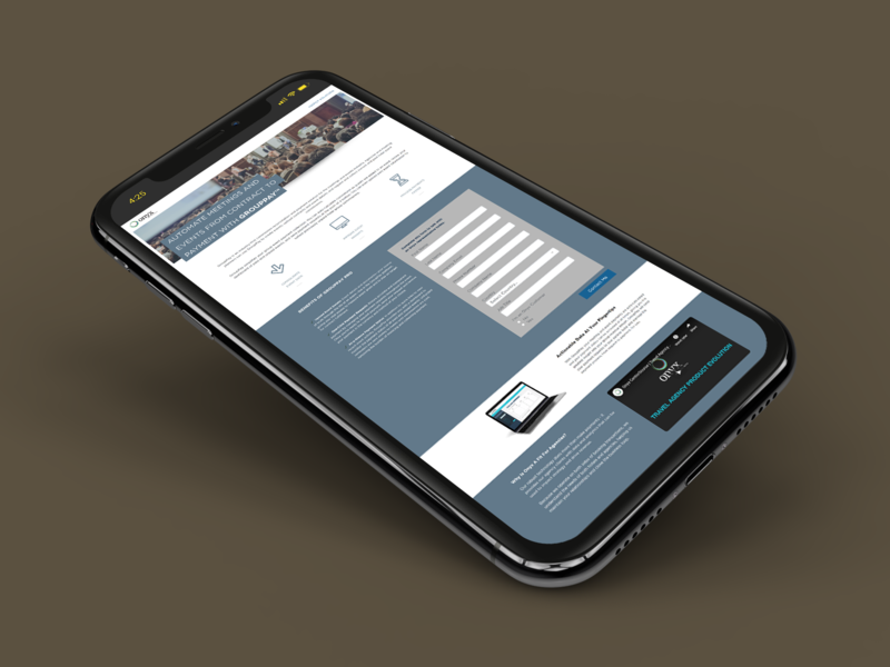 GroupPay Landing Page - Onyx web design web ux ui photoshop modules marketo lead capture landing page hero image graphic design design