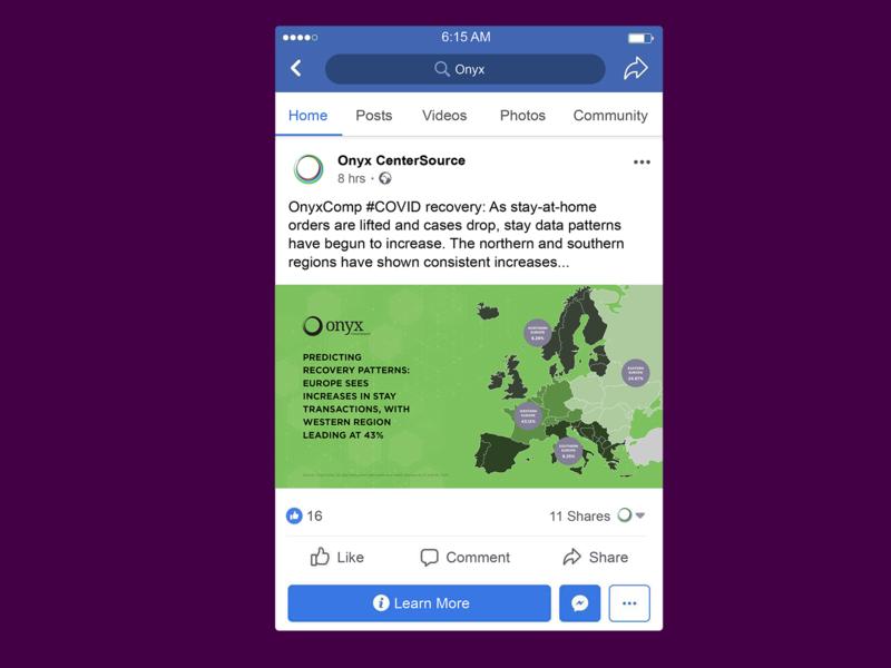 Facebook Post - EU - Onyx vector sales collateral illustrator illustration flat facebook graphic design design composition