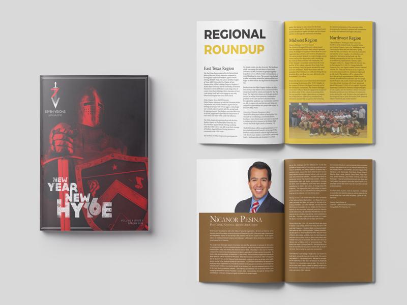 7 Visions Magazine - New Year Issue - ODP photoshop magazine layout indesign graphic design editorial design editorial design composition