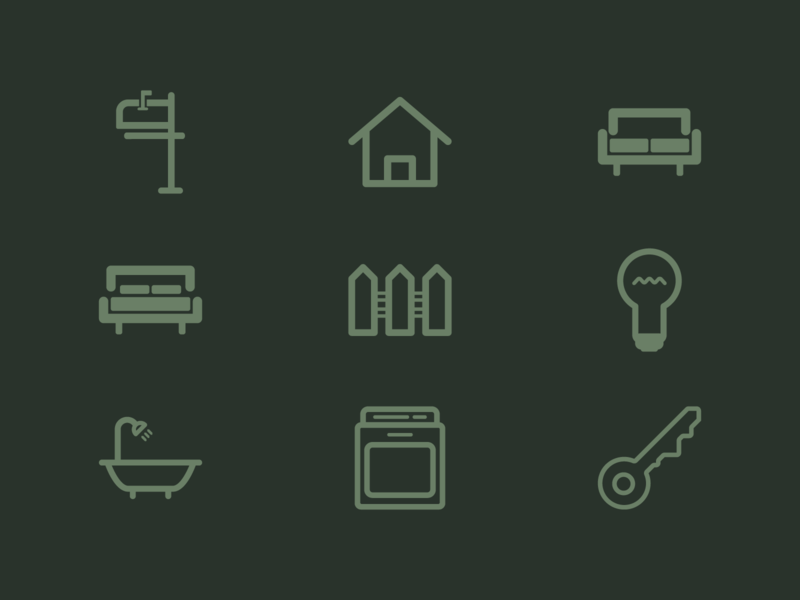 Real Estate Project - Line Icons icon set identity design brand design brand identity identity icon design iconography icon vector flat illustration illustrator graphic design design
