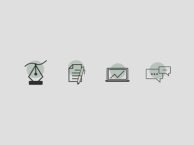 Icon Set - Marketing Leadership Toolkit branding ui vector illustrator illustration identity design identity icon set iconography icon design icon graphic design flat design brand identity brand design