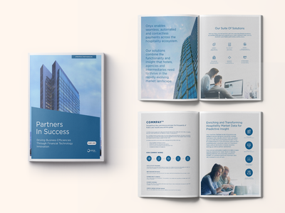 Brochure - Strategic Partnership Proposal - Onyx print illustrator sales collateral pitch deck photoshop marketing collateral magazine layout indesign graphic design editorial design editorial design composition brochure design brochure branding booklet design booklet