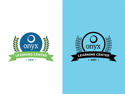 Crest Logo - Learning Center - Onyx brand identity idenity brand flat vector illustration crest logo crest logo design branding logo illustrator graphic design design