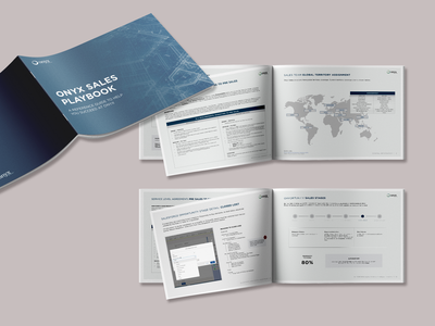 Brochure - Sales Excellence Playbook - Onyx print illustrator sales collateral playbook photoshop marketing collateral magazine layout indesign graphic design editorial design editorial design composition brochure design brochure branding booklet design booklet print design