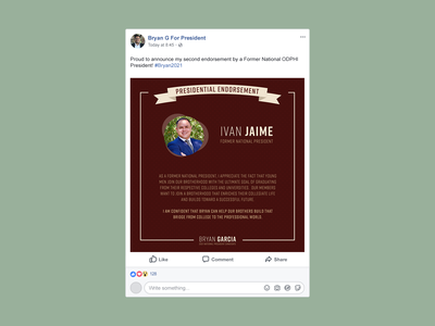 Social Post - ODP President testimonial social media social marketing branding photoshop indesign illustrator instagram composition design graphic design facebook flat illustration vector