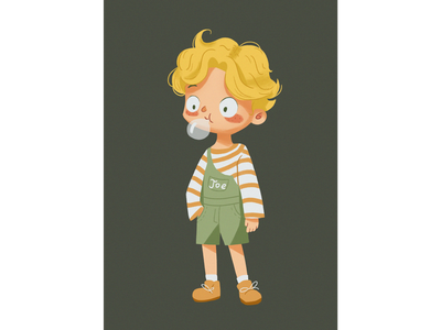 Blond boy 人物 character 设计 插图 illustration design