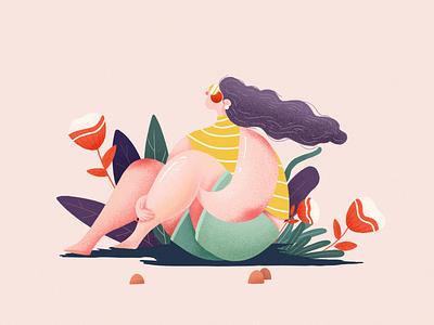 Small scenes 人物 character 设计 插图 illustration design