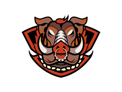 pig logo 设计 插图 illustration design