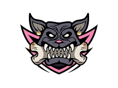 Dog 动物 animal logo 设计 插图 illustration design