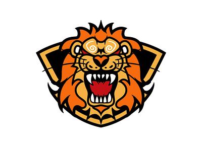 lion animal logo 设计 插图 illustration design