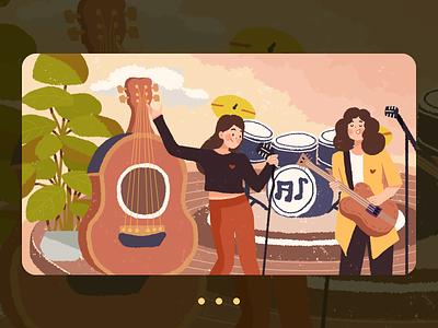 Musical Carnival 设计 插图 illustration design