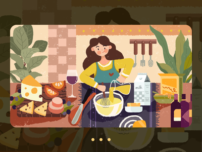 Delicious food 设计 插图 illustration design