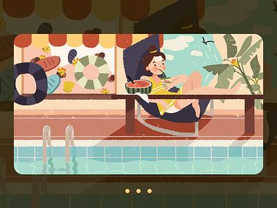 Relieve summer heat 设计 插图 illustration design