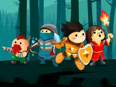 illustration game knight adventurers forest adventure knight game illustration
