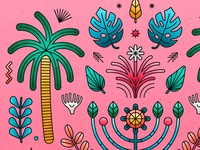 "Close up of my ""plants"" illustration"